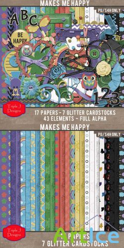 Scrap Kit - Makes Me Happy PNG and JPG Files