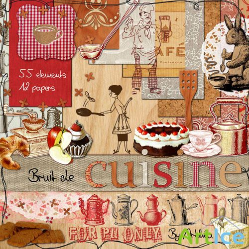 Scrap Set - Bruit de Cuisine PNG and JPG Files