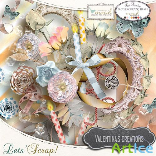 Scrap Kit - Lets Scrap! PNG and JPG Files