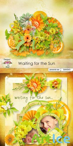 Scrap Set - Waiting for the Sun PNG and JPG Files