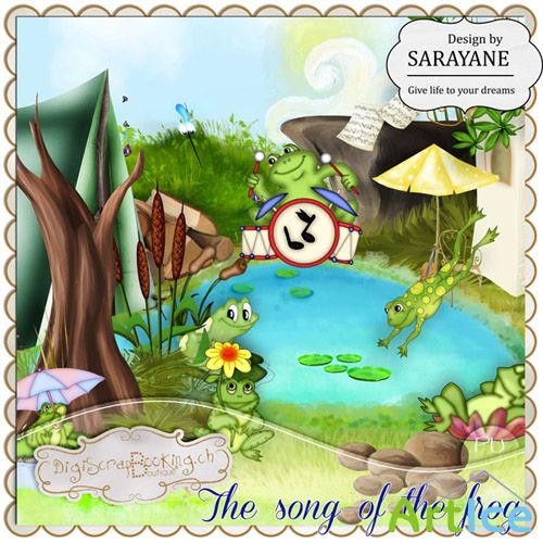 Scrap Set - The Song of the Frog PNG and JPG Files