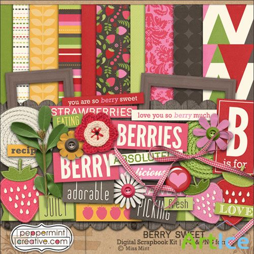 Scrap Set - Berry Sweet PNG and JPG Files