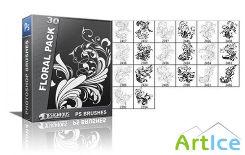 Floral Photoshop Brushes Pack 30