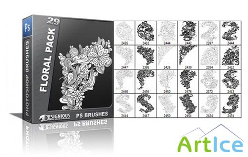 Floral Photoshop Brushes Pack 29