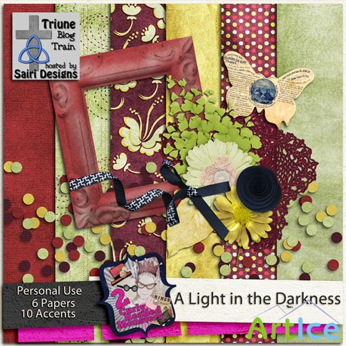 Scrap Kit - A Light in the Darkness PNG and JPG Files