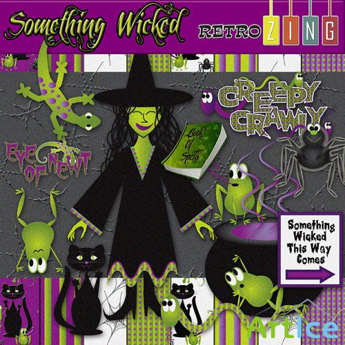 Scrap Set - Something Wicked PNG and JPG Files