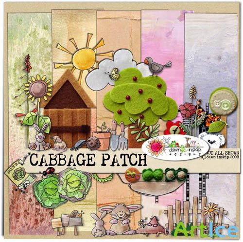 Scrap Kit - Cabbage Patch PNG and JPG Files