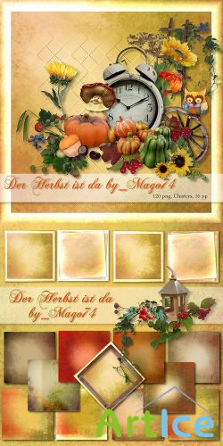 Scrap Set - Der Herbst PNG and JPG FIles