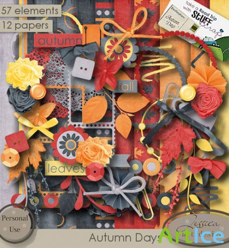 Scrap Kit - Autumn Days PNG and JPG Files