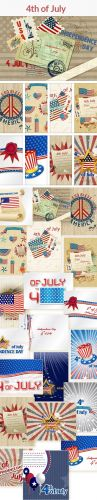 20 4th of July Vector Illustrations