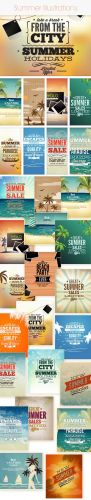 20 Summer Vector Illustrations