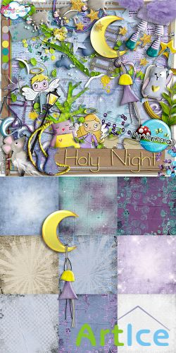 Scrap Set - Holy Night PNG and JPG Files