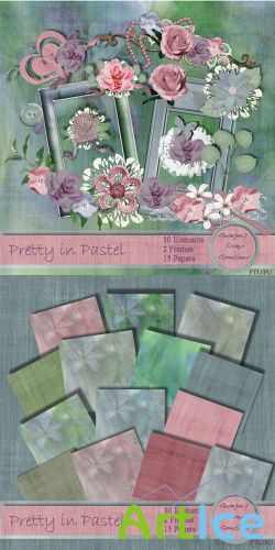 Scrap Set - Pretty in Pastel PNG and JPG Files