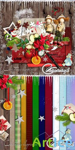 Scrap Set - Christmas Happiness PNG and JPG Files
