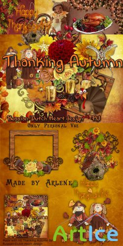 Scrap Set - Thaking Autumn PNG and JPG Files