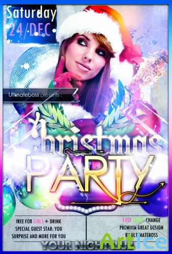 Party Flyer Template - Christmas PSD