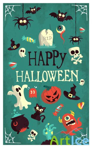 Halloween Vector Flat Elements
