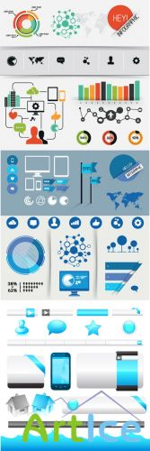 Infographics Interface Vector Set