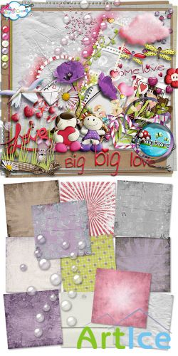 Scrap Set - Big Big Love PNG and JPG Files