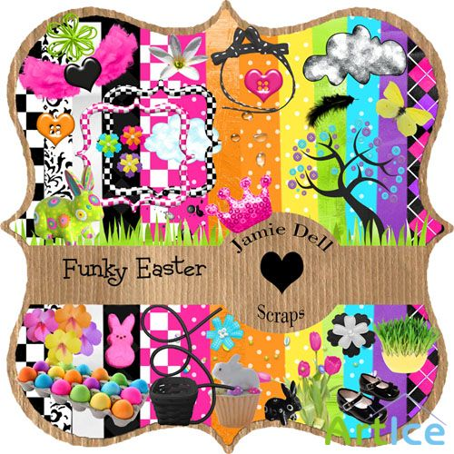 Scrap Set - Funky Easter PNG and JPG Files