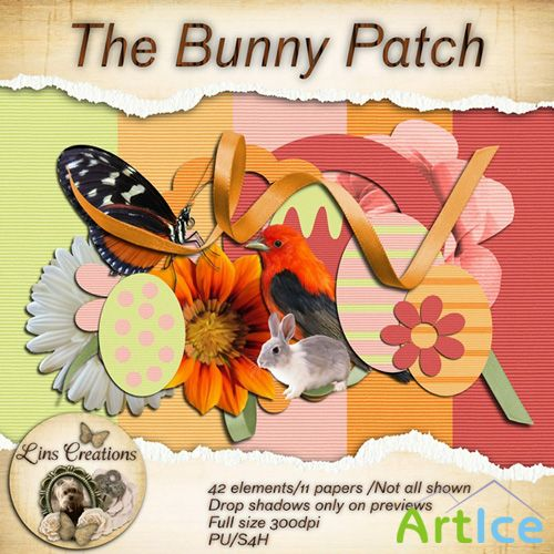 Scrap Set - The Bunny Patch PNG and JPG Files