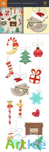 Vector Christmas Ornaments Set 2 - Winter Elements