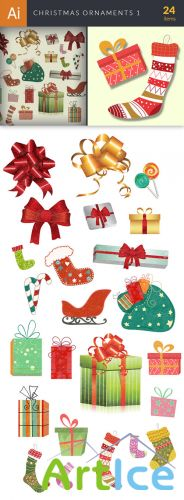 Vector Christmas Ornaments Set 1 - Winter Elements