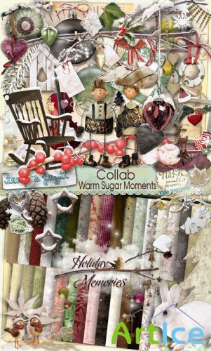 Scrap Set - Warm Sugar Moments PNG and JPG Files