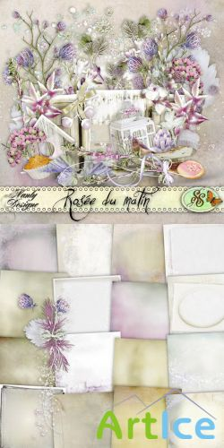 Scrap Set - Rosee Du Matin PNG and JPG Files