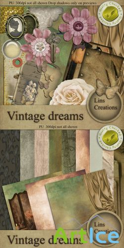 Scrap Kit - Vintage Dreams PNG and JPG Files