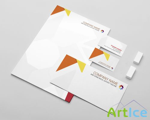 Stationery Mock-up Template PSD