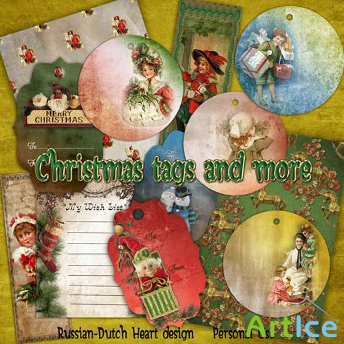 Christmas Tags and More PNG and JPG Files