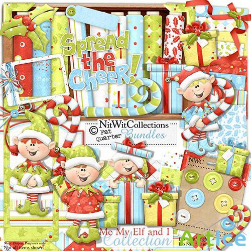 Scrap Set - Me My Elf and I PNG and JPG Files