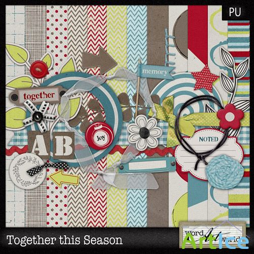 Scrap Set - Together this Season PNG and JPG Files