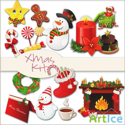 Scrap - Xmas Kit PNG Files