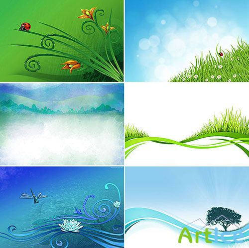 Nature Backgrounds PSD Template