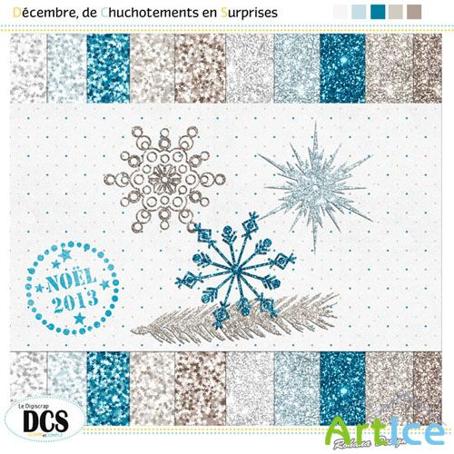 Scrap Set - Decembre de Chuchotements en Surprises PNG and JPG Files