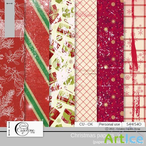 Christmas Papers 2 JPG Files