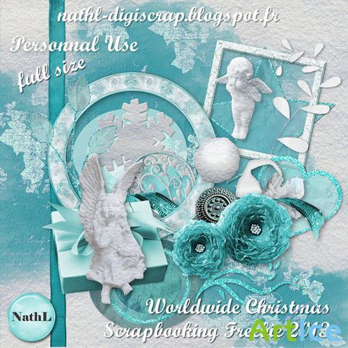 Scrap Set - WorldWide Christmas PNG and JPG Files