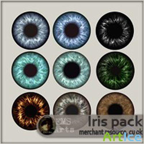 Iris Pack PNG Files