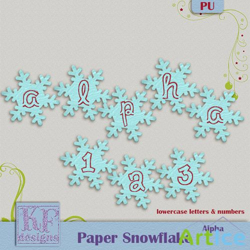 Snowflake Alpha Set PNG Files