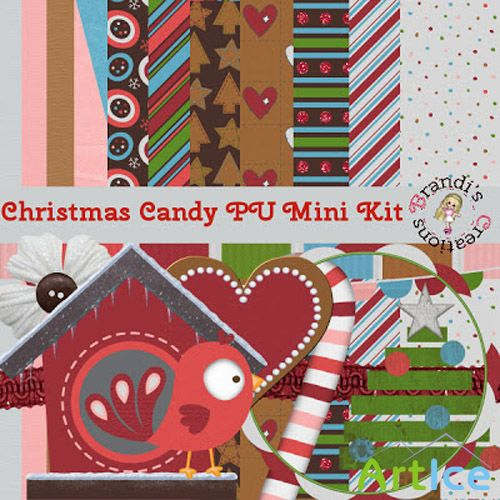 Christmas Candy Mini Kit PNG and JPG Files