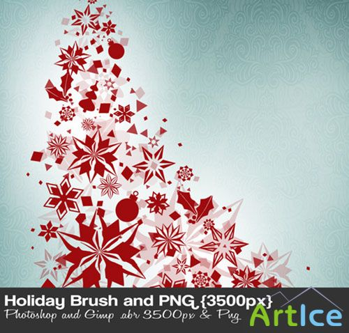 Holiday High-res Photoshop Brushes