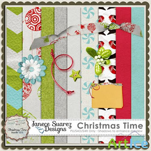 Christmas Time Set 6 PNG and JPG Files