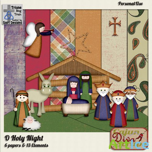 Scrap Set - O Holy Night 2 PNG and JPG Files