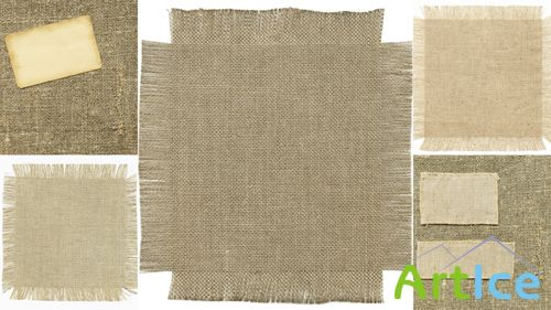 Set of high quality texture of burlap different density