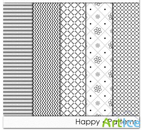 Happy Patterns PNG Files