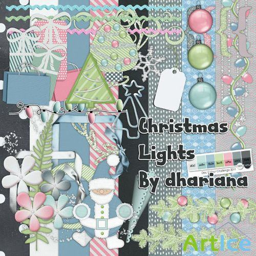 Christas Lights Scrap PNG and JPG Files