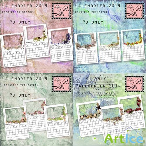 Calendrier 2014 PNG Files