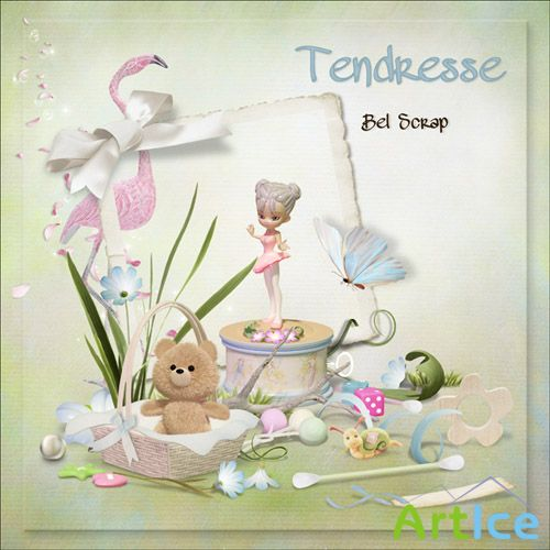 Scrap Kit - Tendresse PNG and JPG Files